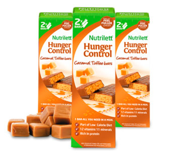 Батончики Nutriett Hunger Сontrol Caramel, 4 x 2 штук